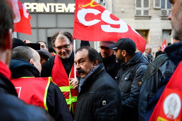 Philippe Martinez, ici lors d'un rassemblement à Paris le 3 janvier