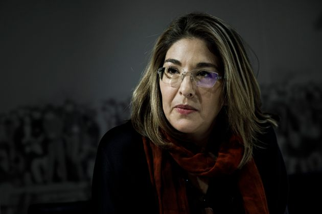 Canadian author and activist Naomi Klein speaks to the media before speaking at the Willy Brandt Foundation...