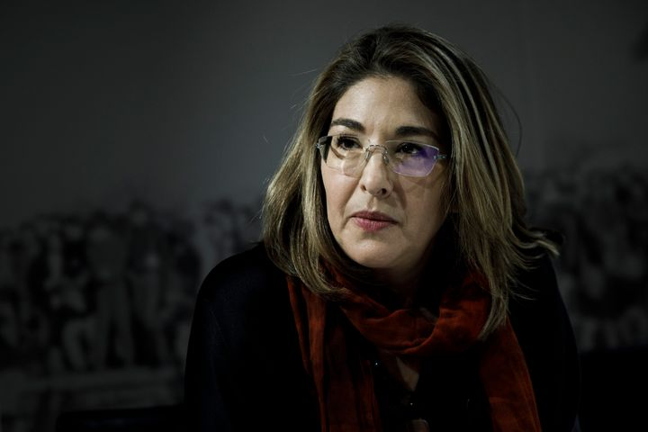 Canadian author and activist Naomi Klein speaks to the media before speaking at the Willy Brandt Foundation in December.
