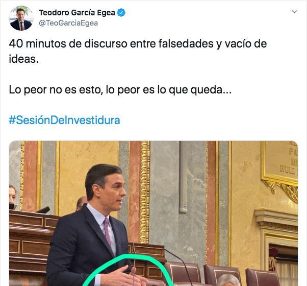 El tuit de García