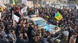 Πλήθος κόσμου στην πομπή με το φέρετρο του Ιρανού στρατηγού Σολεϊμανί στη