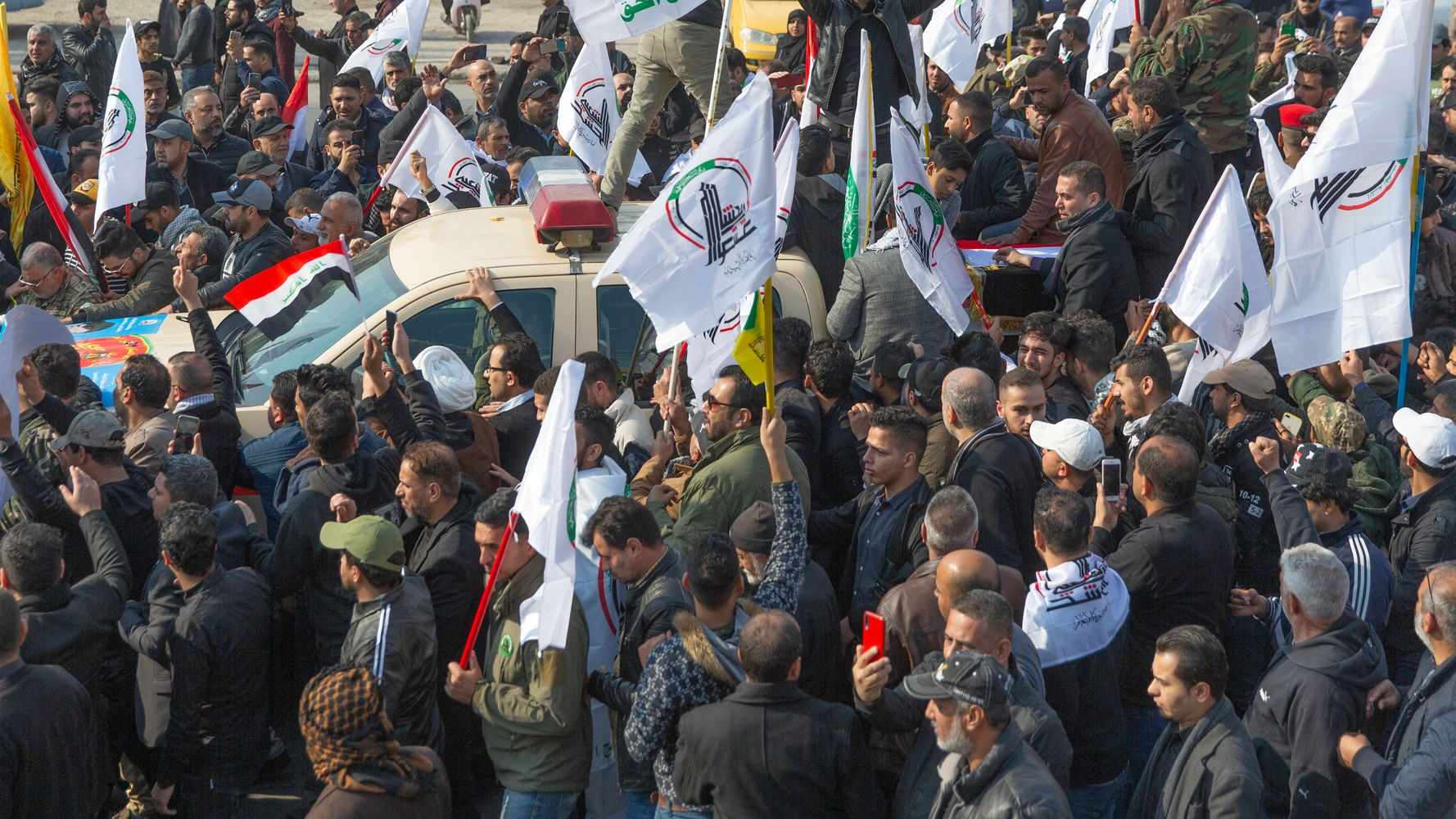 Mourners Chant 'Death To America' In Qassem Soleimani Funeral Procession