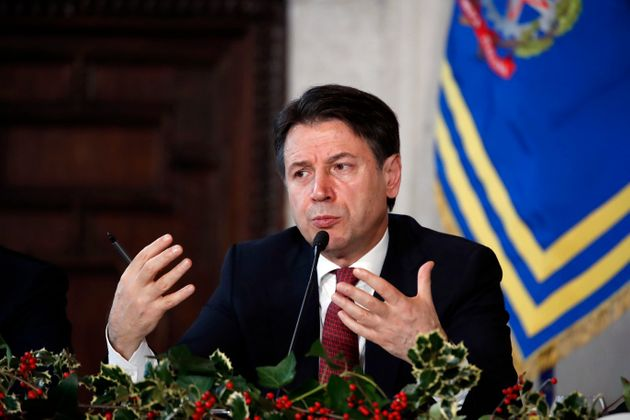 Prime Minister Giuseppe Conte during the year-end press conference at Villa Madama. Rome (Italy), December...