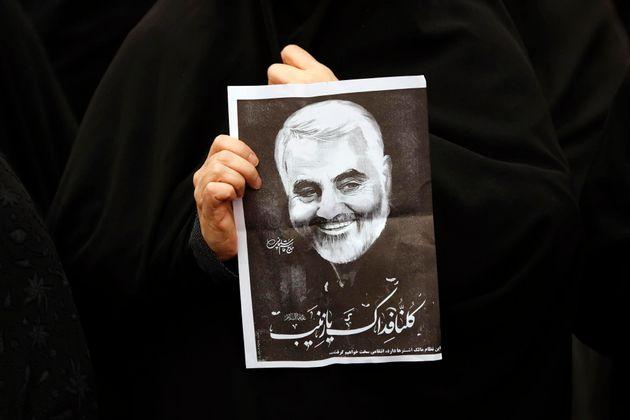Fotografía de Qasem Soleimani, muerto en un ataque selectivo de