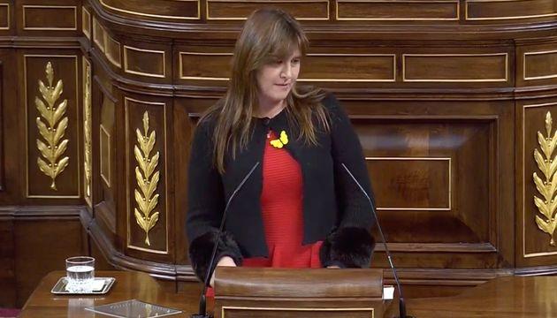 Laura Borràs durante su intervención en el