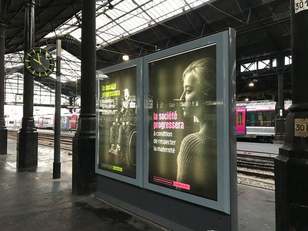 Cette campagne de publicité d'Alliance Vita a été retirée par Mediatransports car jugée trop militante....