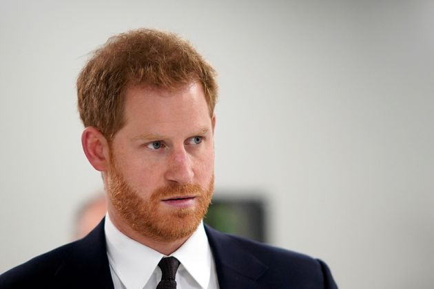 Britain's Prince Harry, Duke of Sussex visits the laboratory as he tours The Institute of Translational...