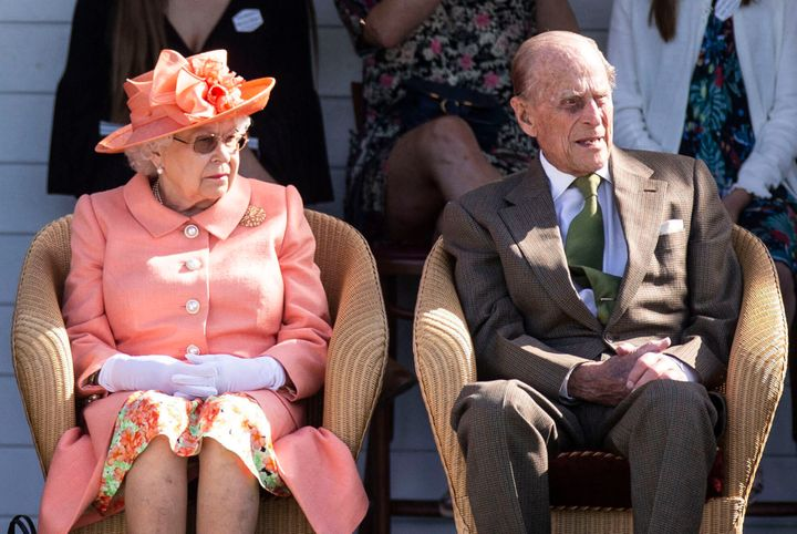 December 20th 2019 - Prince Philip The Duke of Edinburgh has been hospitalized. He was admitted to a London hospital as a precautionary measure for observation and to receive treatment for a pre-existing condition. - File Photo by: zz/KGC-107/STAR MAX/IPx 2018 6/24/18 Her Majesty Queen Elizabeth II and Prince Philip The Duke of Edinburgh at the Royal Windsor Cup Final at the Guards Polo Club and the British Driving Society Annual Show at Smith's Lawn in Windsor Great Park. (Windsor, Berkshire, England, UK)