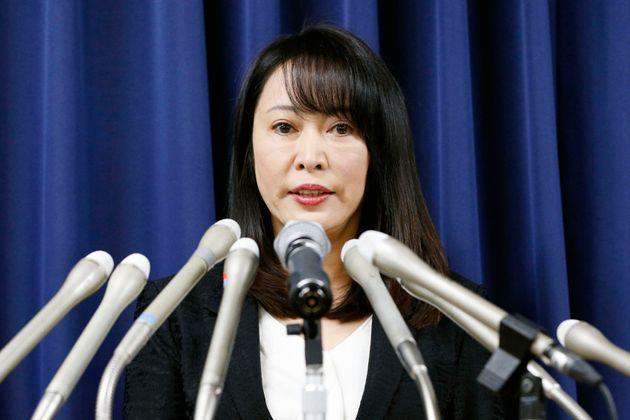 La ministre japonaise de la Justice lors d'une conférence le 26 décembre 2019 (photo
