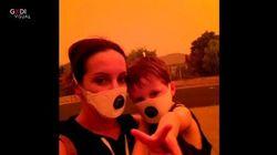 Il cielo rosso in Australia, devastata dagli incendi
