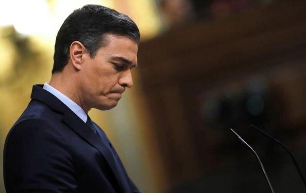 El candidato a la Presidencia del Gobierno, Pedro Sánchez, este
