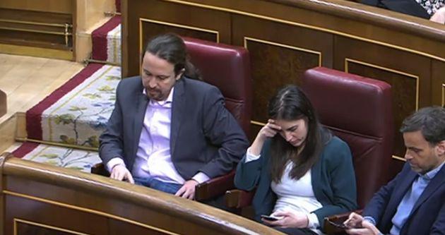 Pablo Iglesias durante la intervención de Pablo