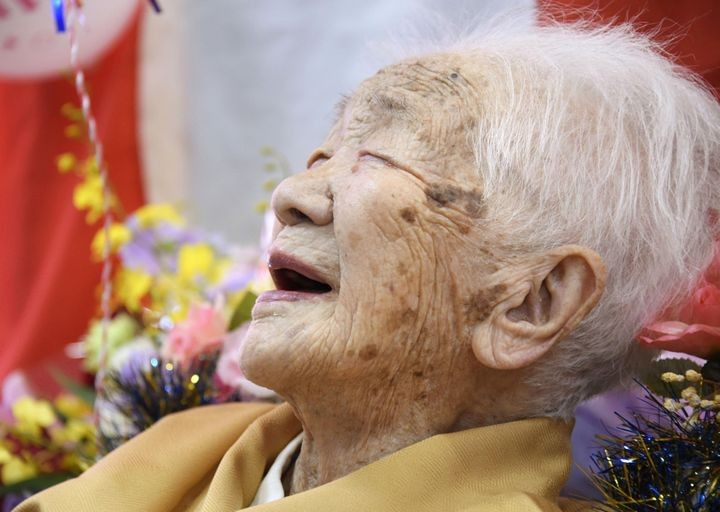 Tanaka, seen on Sunday,was last year confirmed as the oldest living person byGuinness World Records.