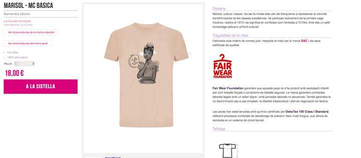 La camiseta de Marisol en la web invisible.coop