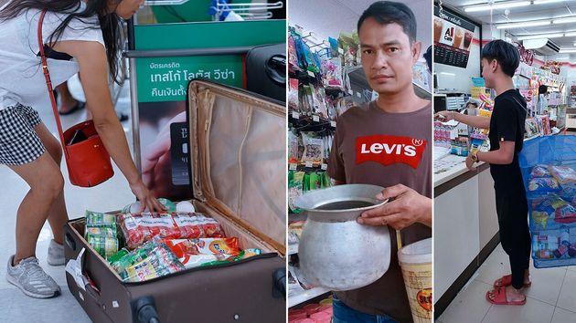 Une page Facebook s'est amusée à recenser les techniques des Thaïlandais pour répondre à l'interdiction...