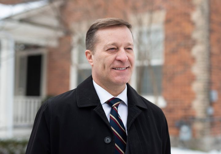 Bryan Brulotte, who is entering the leadership race for the Conservative Party of Canada, is shown in Ottawa, on Sunday.