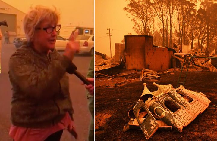 Celeste Barber's mother-in-law has berated the federal government's lack of military presence in the bushfire-hit town of Eden.