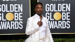 Billy Porter Is A Swan Queen With Massive Feather Train At 2020 Golden