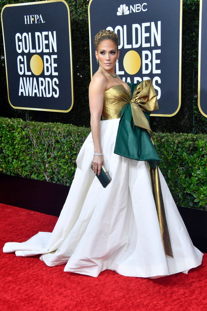 Jennifer Lopez attends the 77th Annual Golden Globe Awards at The Beverly Hilton Hotel on Jan. 5, 2020, in Beverly Hills, California.