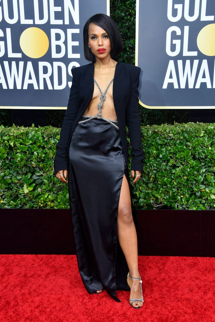 Kerry Washington attends the 77th Annual Golden Globe Awards at the Beverly Hilton Hotel on January 5, 2020, in Beverly Hills