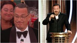 Tom Hanks' Reaction To Ricky Gervais' Golden Globes Monologue Is Meme