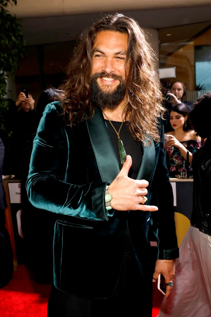 Jason Momoa arrives to the 77th Annual Golden Globe Awards held at the Beverly Hilton Hotel on Jan. 5, 2020.