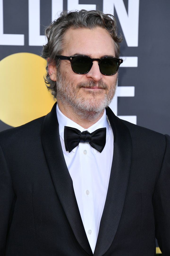 Joaquin Phoenix attends the 77th Annual Golden Globe Awards at The Beverly Hilton Hotel on January 05, 2020 in Beverly Hills,