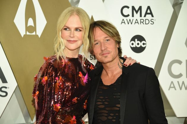 Nicole Kidman, left, and Keith Urban arrive at the 53rd annual CMA Awards at Bridgestone Arena on Wednesday,...