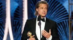 Brad Pitt también cree que Jack cabía en la tabla: su guiño a Leonardo DiCaprio en los Globos de