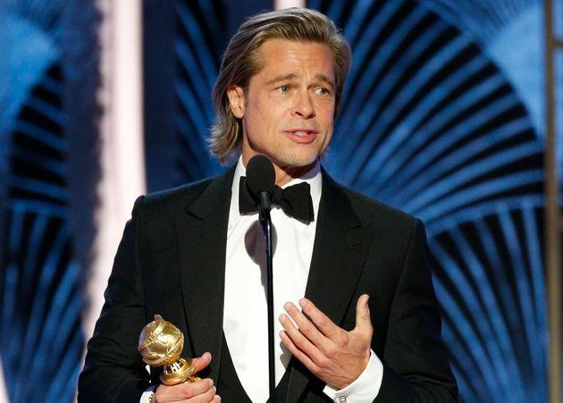 Brad Pitt recoge el Globo de Oro por 'Érase una vez en..