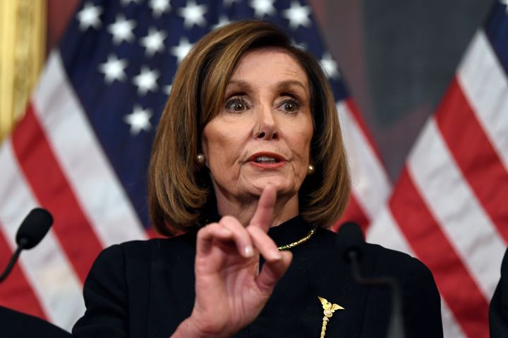 "House Speaker <a href=""https://www.huffpost.com/news/topic/nancy-pelosi"">Nancy Pelosi</a> (D-Calif.) told colleagues that the"