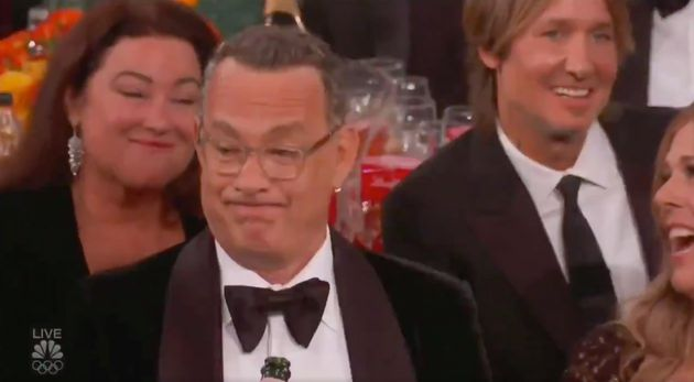 Tom Hanks' face said a