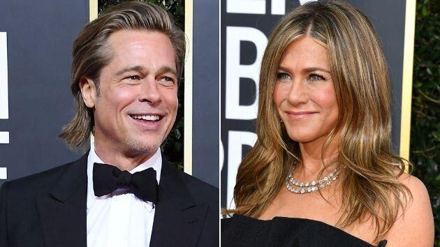 Brad Pitt y Jennifer Aniston, en los Globos de