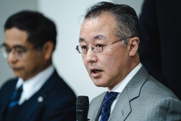 12月18日、判決後に都内で記者会見する山口敬之さん
