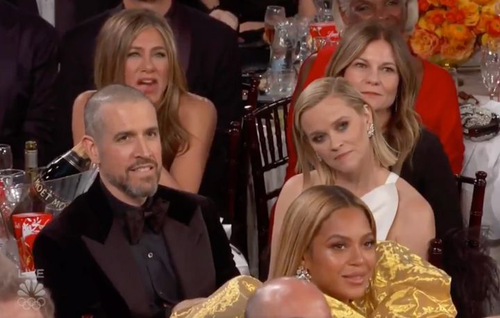 Jennifer Aniston couldn't have looked prouder.