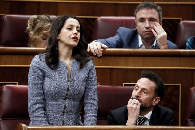 Inés Arrimadas en la sesión de