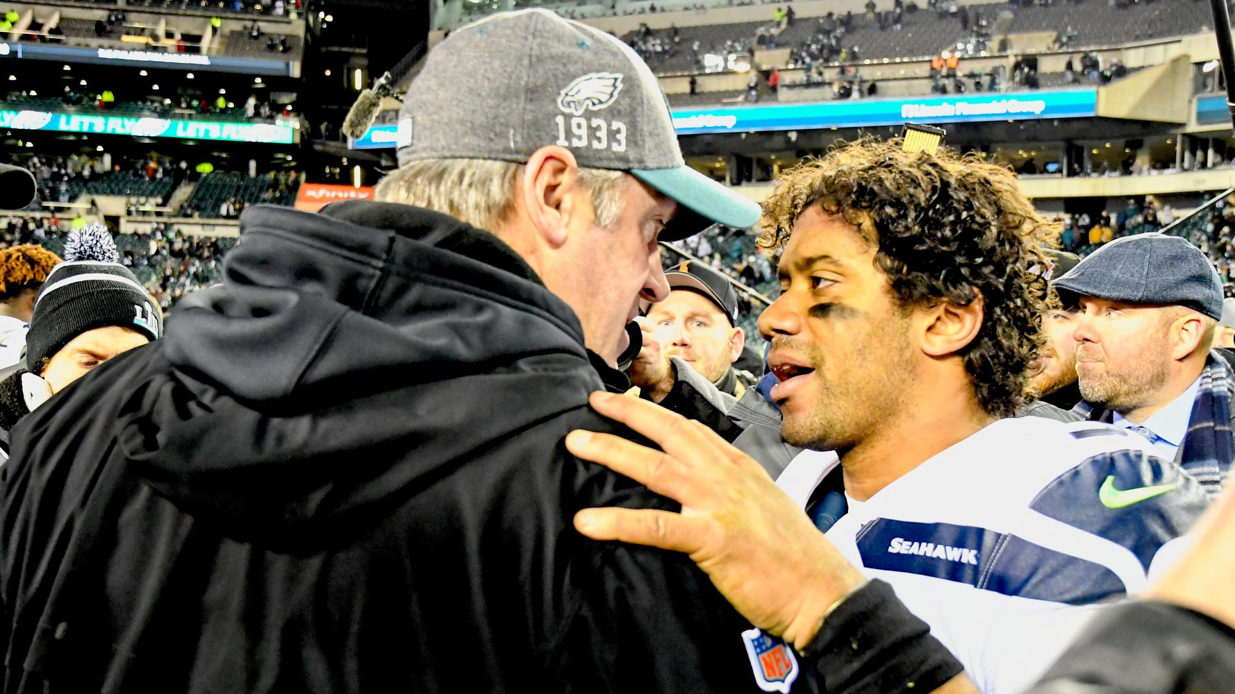 Westlake Legal Group 5e132eb725000045bad31e98 Russell Wilson's 'Class' Words To Eagles Coach Put Win In Perspective
