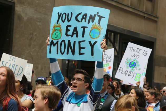 Hundreds of Canadian youth took part in a massive protest march against climate change in Toronto on...