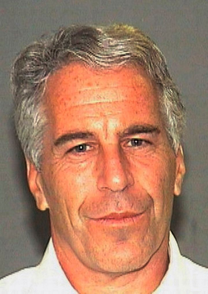 """FILE - This July 27, 2006 arrest file photo made available by the Palm Beach, Fla., Sheriff's Office shows Jeffrey Epstein. Harvard University says it's reviewing donations from disgraced financier Jeffrey Epstein and will donate all unspent funding to victims of sexual crimes. University President Lawrence Bacow announced the review Thursday, Sept. 12, 2019 but says he ordered it two weeks ago. He said Epstein's connections to Harvard and other colleges raise """"important concerns."""" (AP Photo/Palm Beach Sheriff's Office, File)"""