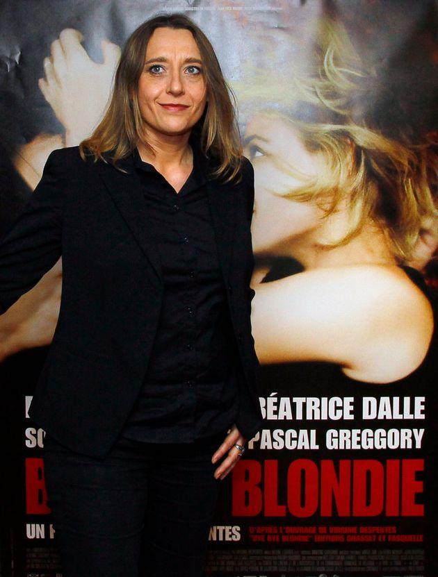 La réalisatrice française Virginie Despentes arrive pour la projection de
