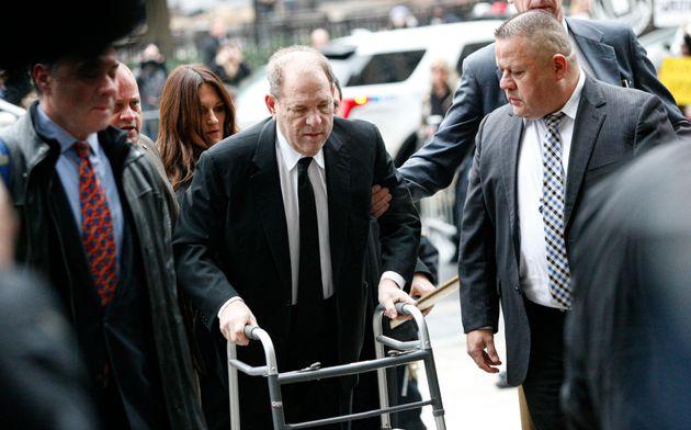 Harvey Weinstein à New York le 6 janvier pour le début de son