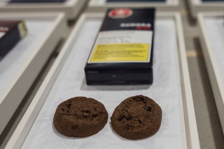 Soft-baked cookies from Aurora Cannabis Enterprises in Toronto on Friday, Jan. 3, 2020.