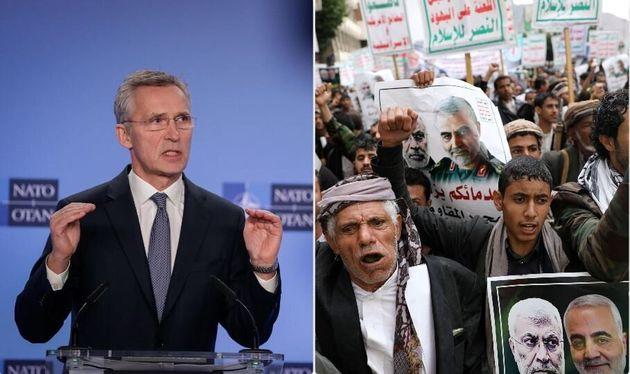 Il segretario generale Nato, Jens Stoltenberg - una manifestazione in ricordo di