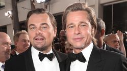 Brad Pitt Cracks 'Titanic' Joke While Thanking Leonardo DiCaprio At Golden