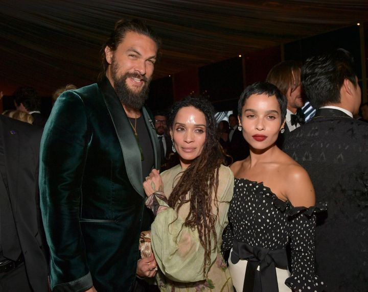 Jason Momoa Zoe Kravitz Have A Golden Globe Family Reunion