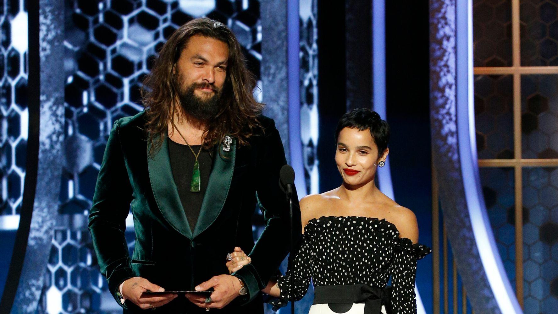 Jason Momoa Zoe Kravitz Have A Golden Globe Family Reunion