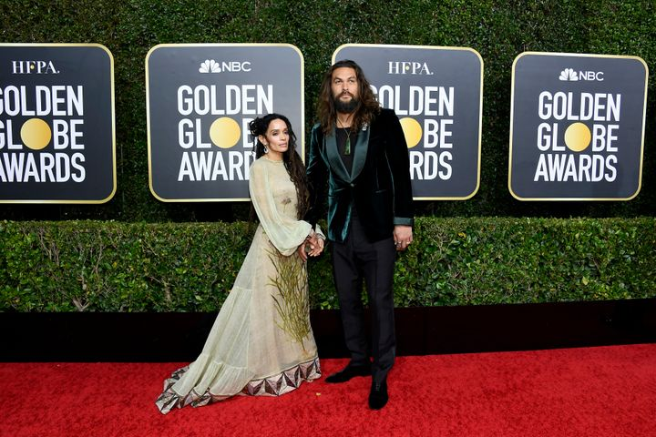 Lisa Bonet, 51, and Jason Momoa, 40, arrive at the 2020 Golden Globes.