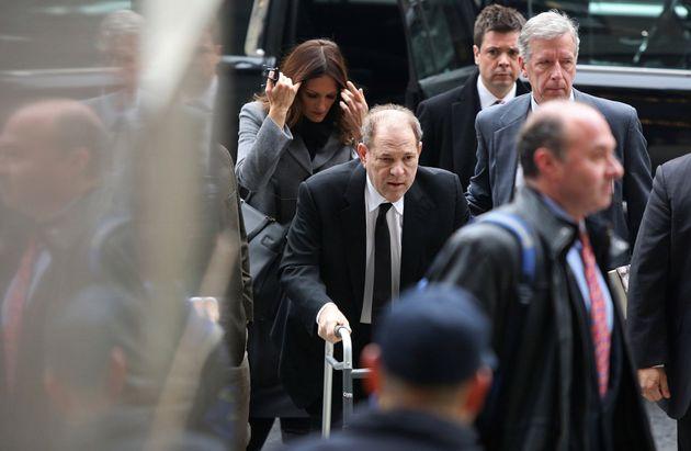 Weinstein, a su llegada al Tribunal de Nueva York este