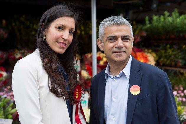 Mayor of London Sadiq Khan and Dr Rosena