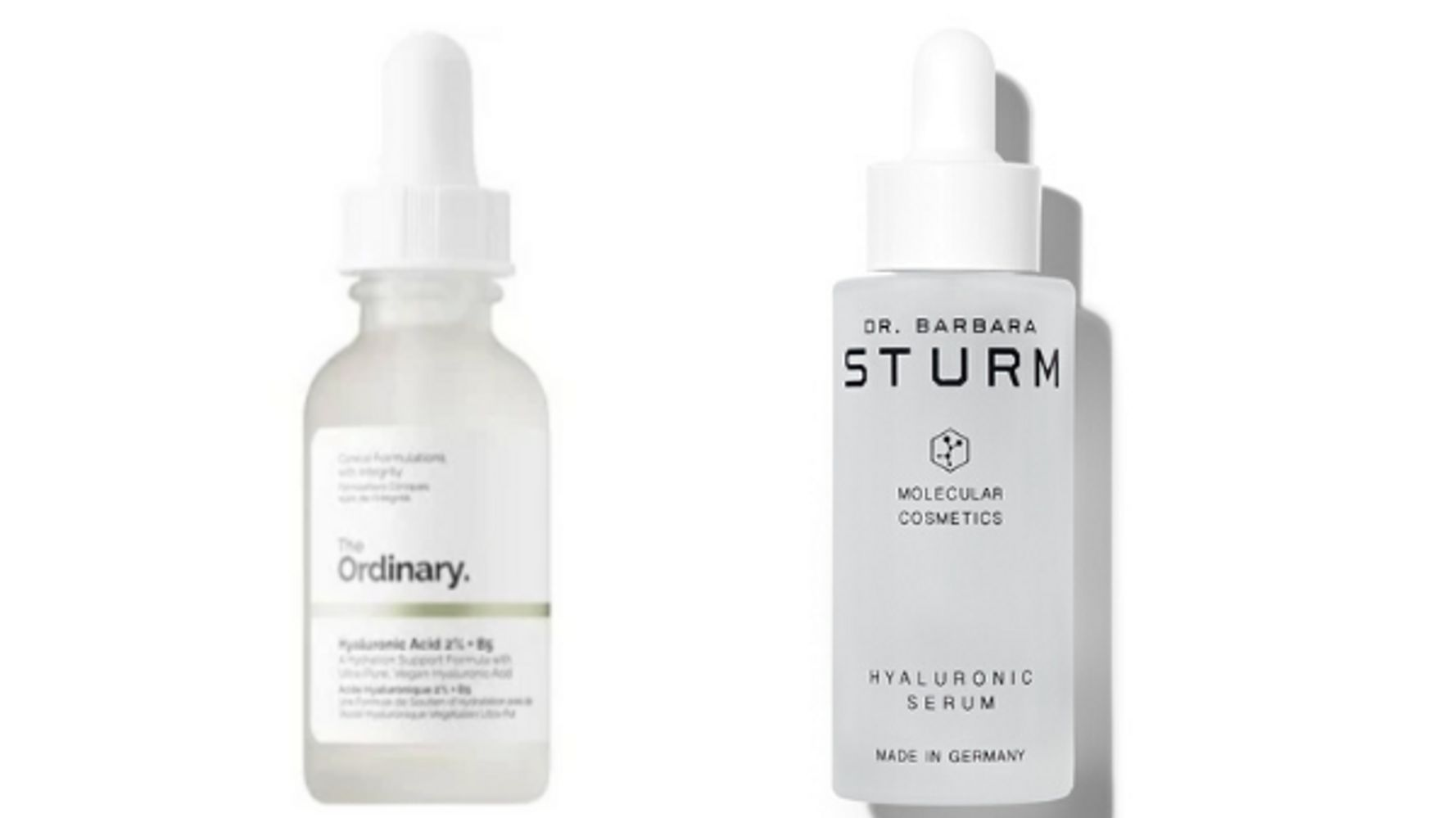 One Of These Hyaluronic Acid Serums Is $7, The Other Is $300. What's The Difference?